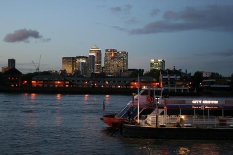 Лондон, речные трамвайчики