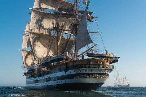 amerigo vespucci parade of sail richard sibley 1
